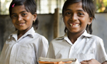 Two schoolgirls from India