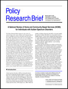 Policy research brief a national review of home and community policy research brief cover pronofoot35fo Images
